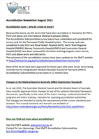 Accreditation Newsletter August 2015